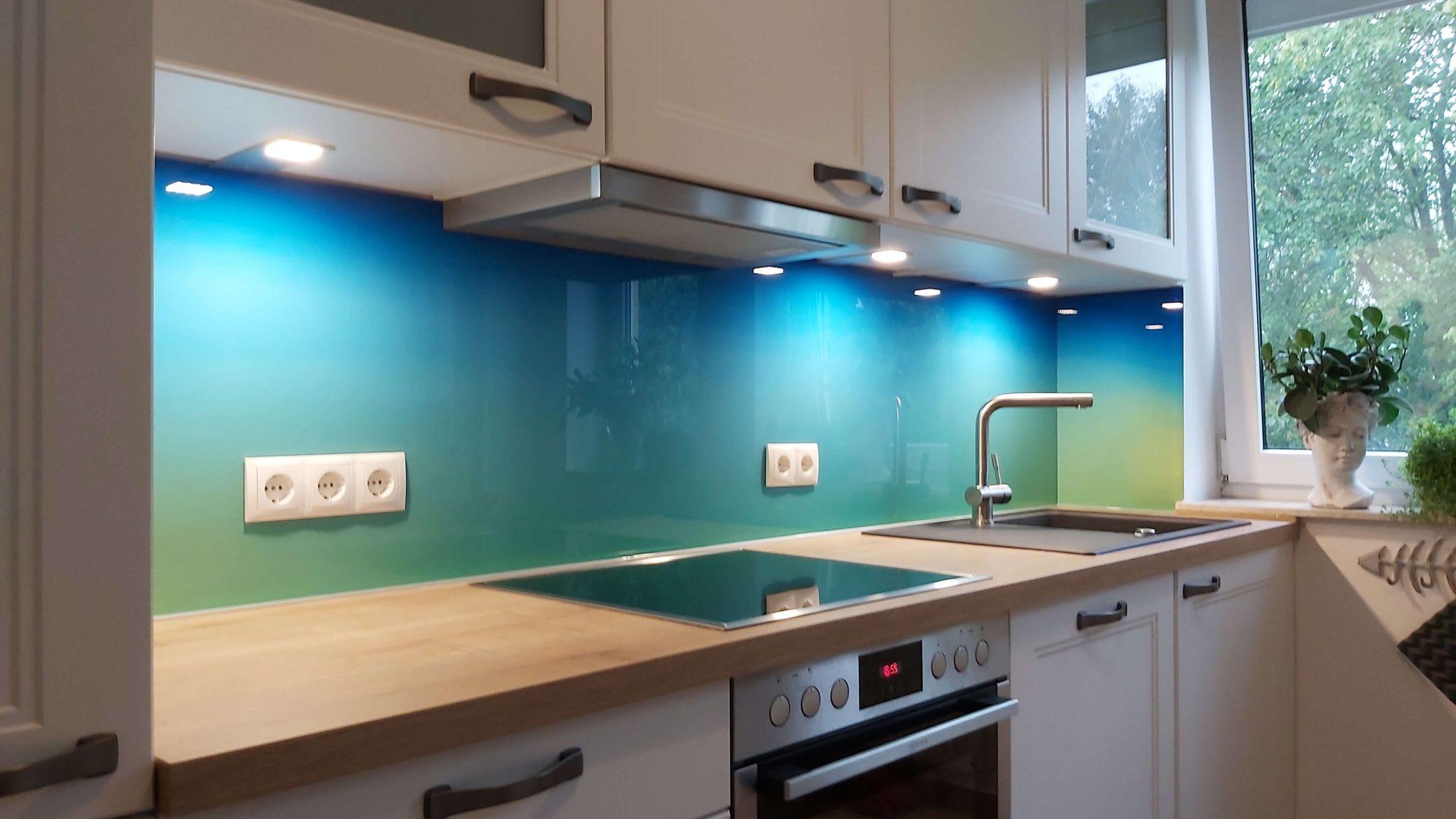 Küchenrückwand Design ganze Ansicht
